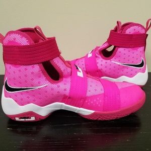f44fa440850d8 Nike Shoes - Nike Lebron Soldier 10 Breast Cancer Girls Shoes